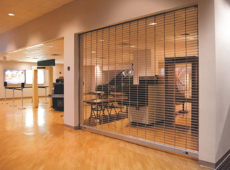 security Grillescoiling Aluminum Or Steel Grilles To Secure Areas Requiring Visual Access And Air Circulation