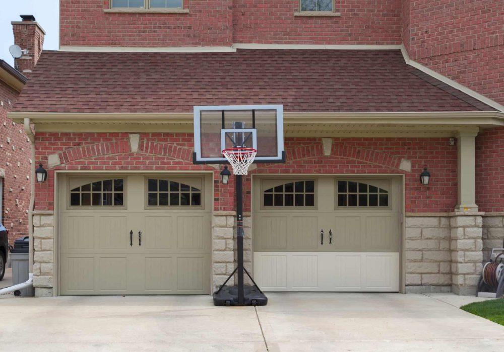 brown fiberglass garage doors