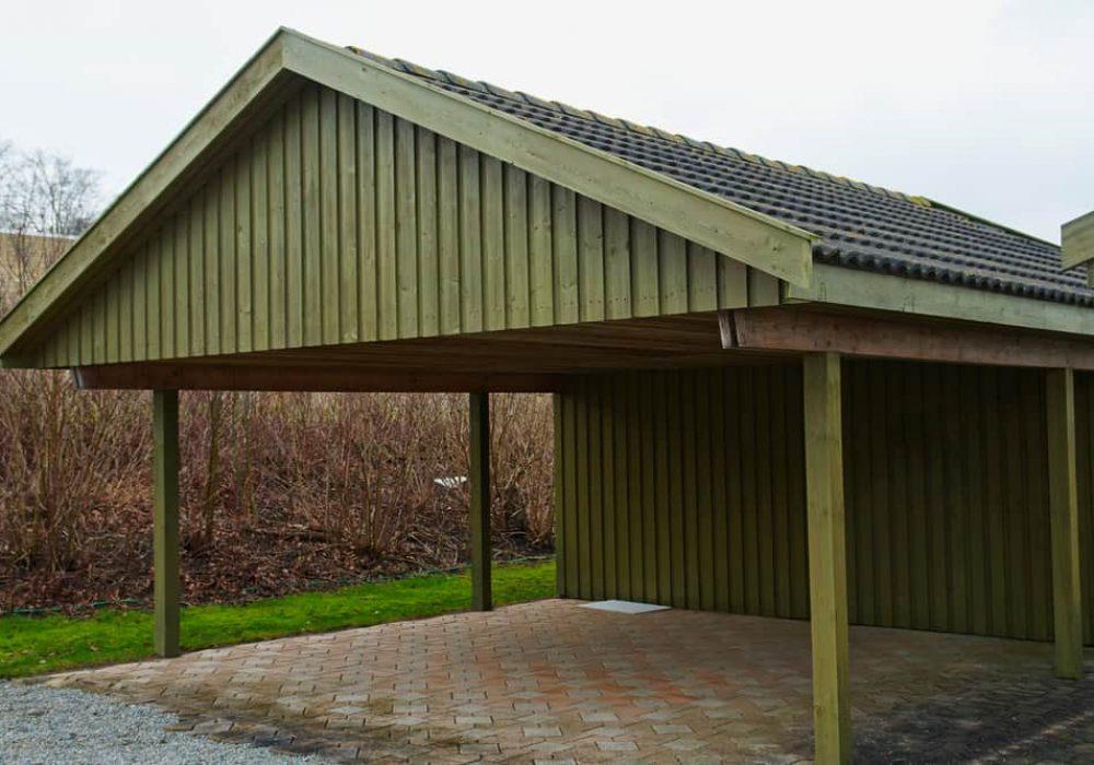 Modern classic design carport car garage parking made of wood